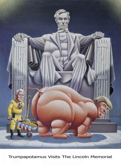 Trumpapotamus Visits The Lincoln